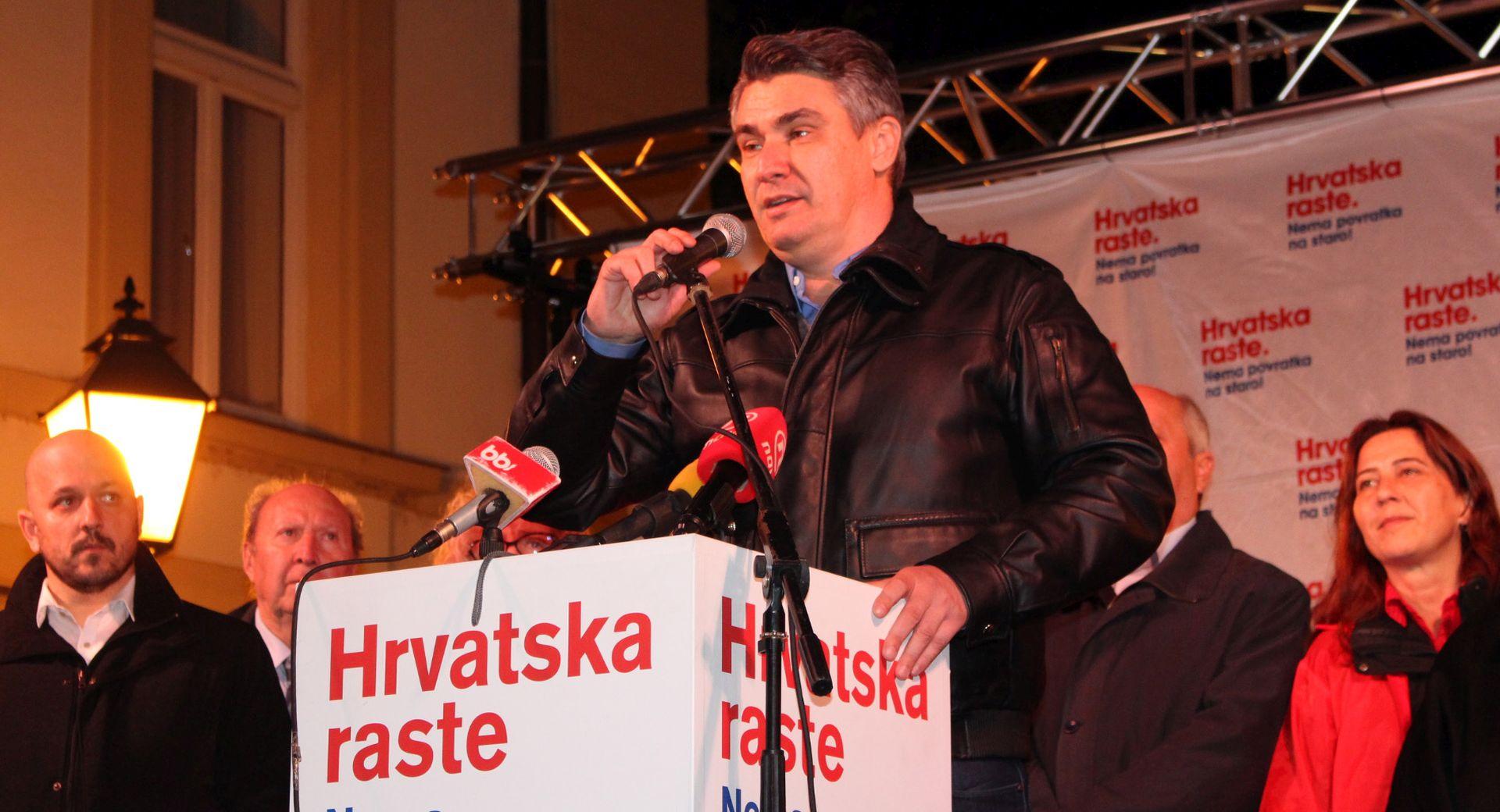 """IZBORI 2015. Milanović u Bjelovaru: """"Sačuvali smo obraz, sačuvat ćemo i vlast"""""""