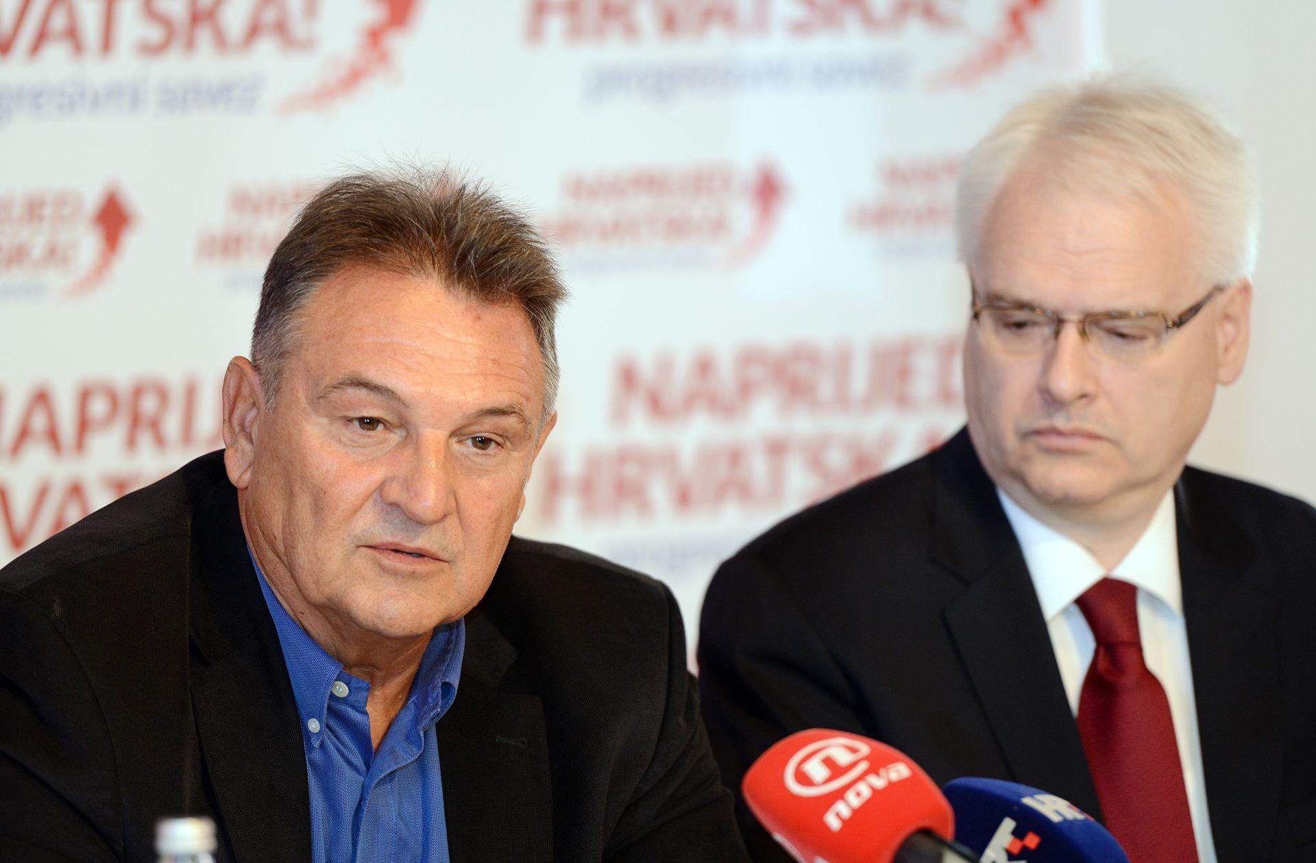 """""""NAPRIJED HRVATSKA"""": Čačićeva i Josipovićeva koalicija u minusu od 37.000 kuna"""