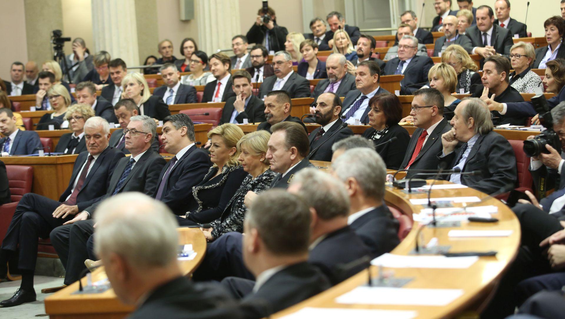 FOTO: PREKINUTA SJEDNICA Zbog izostanka podrške HDZ-a Robert Podolnjak odbio kandidaturu za predsjednika Sabora