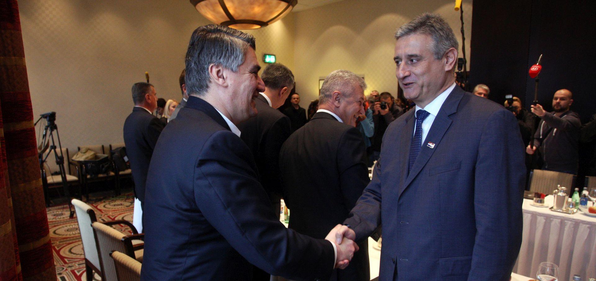 ZADOVOLJSTVO NAKON SASTANKA Milanović: Došao sam slušati, a na kraju sam i previše pričao