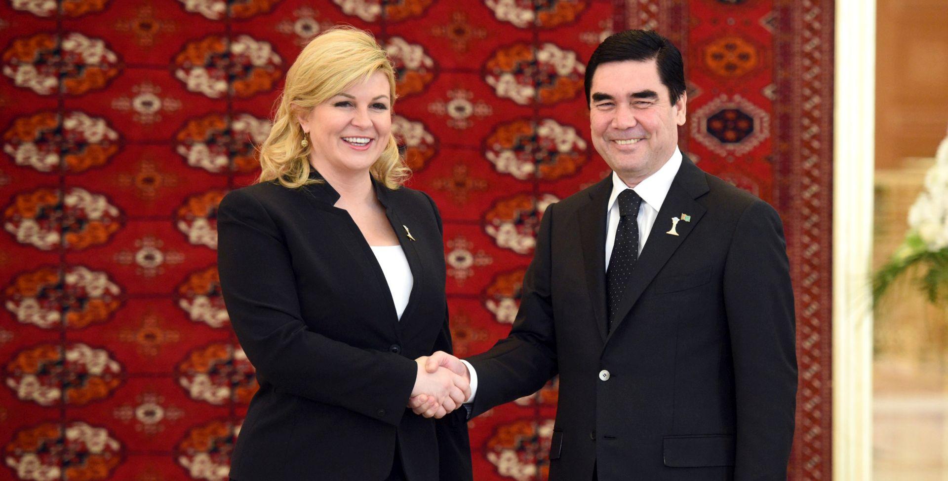 Predsjednica Grabar-Kitarović u radnom posjetu Turkmenistanu