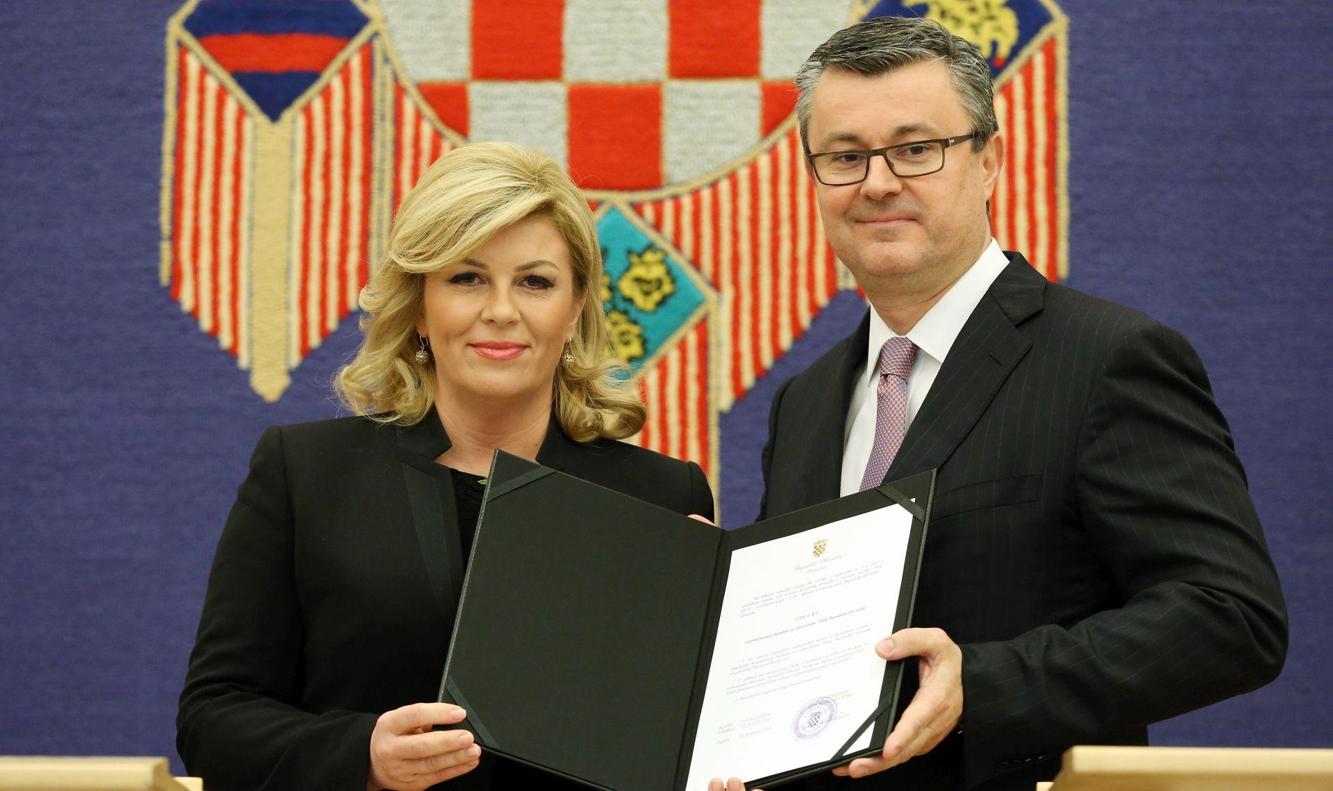 FOTO: Predsjednica povjerila mandat sa sastav nove Vlade Tihomiru Oreškoviću