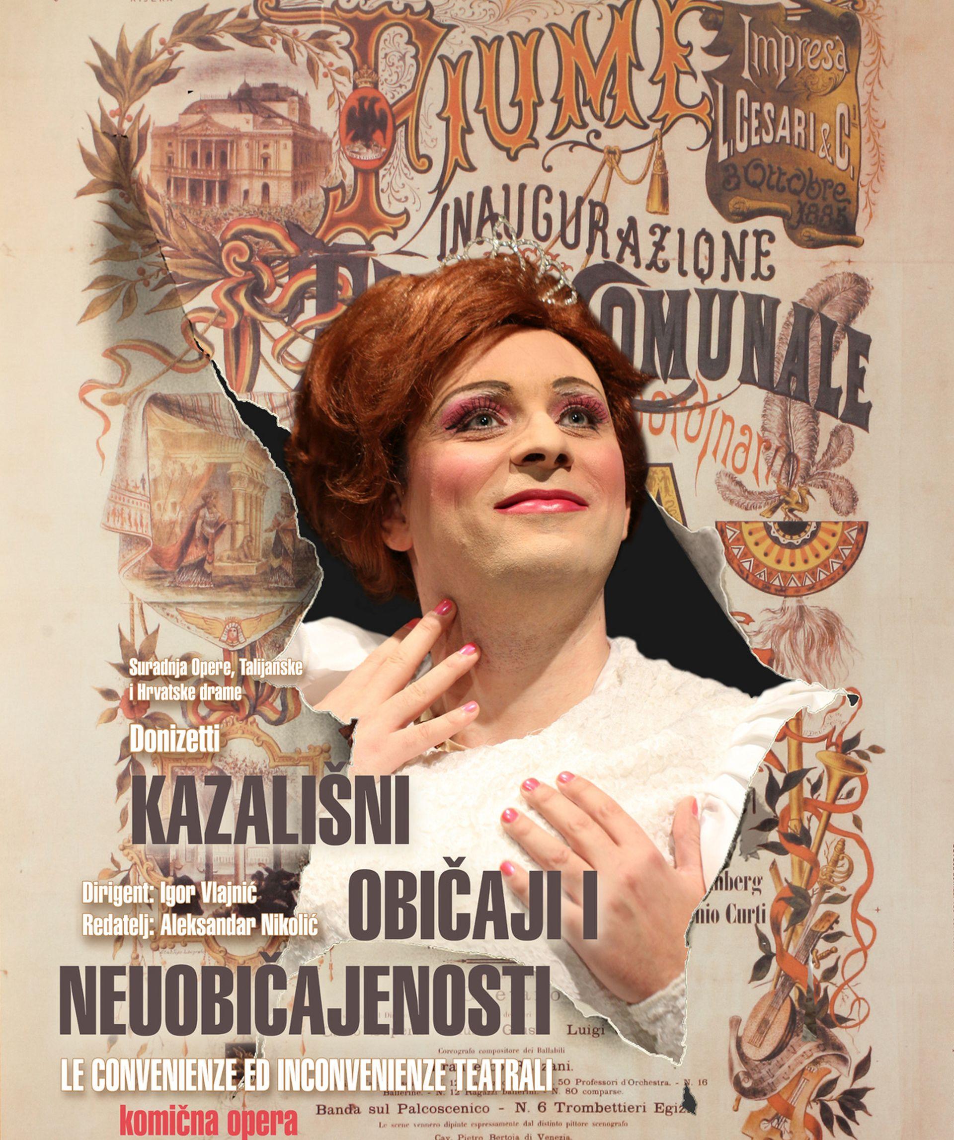 """RIJEČKA PREMIJERA: Donizettijeva opera """"Kazališni običaji i neuobičajenosti"""""""