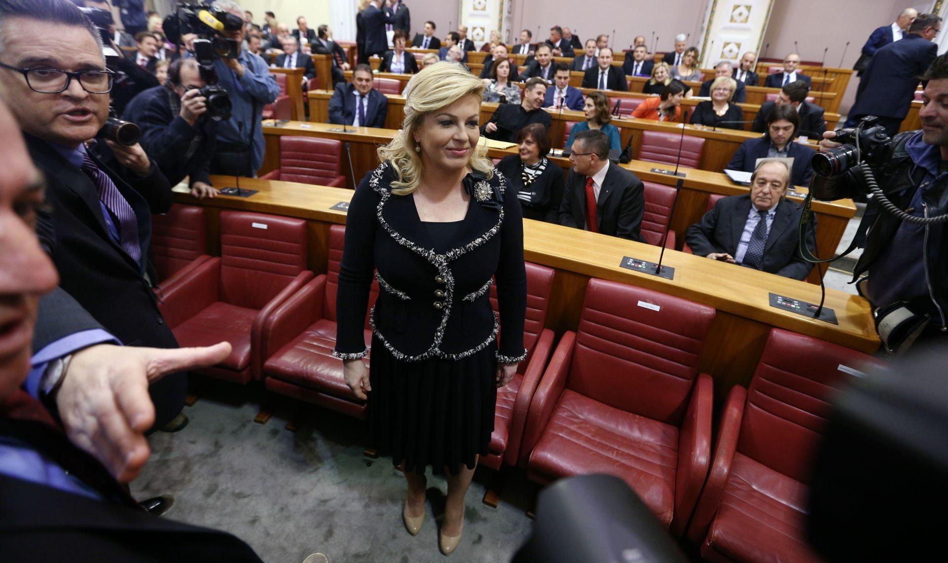 FOTO: SABOR Grabar Kitarović poziva saborske zastupnike na odgovornost prema građanima