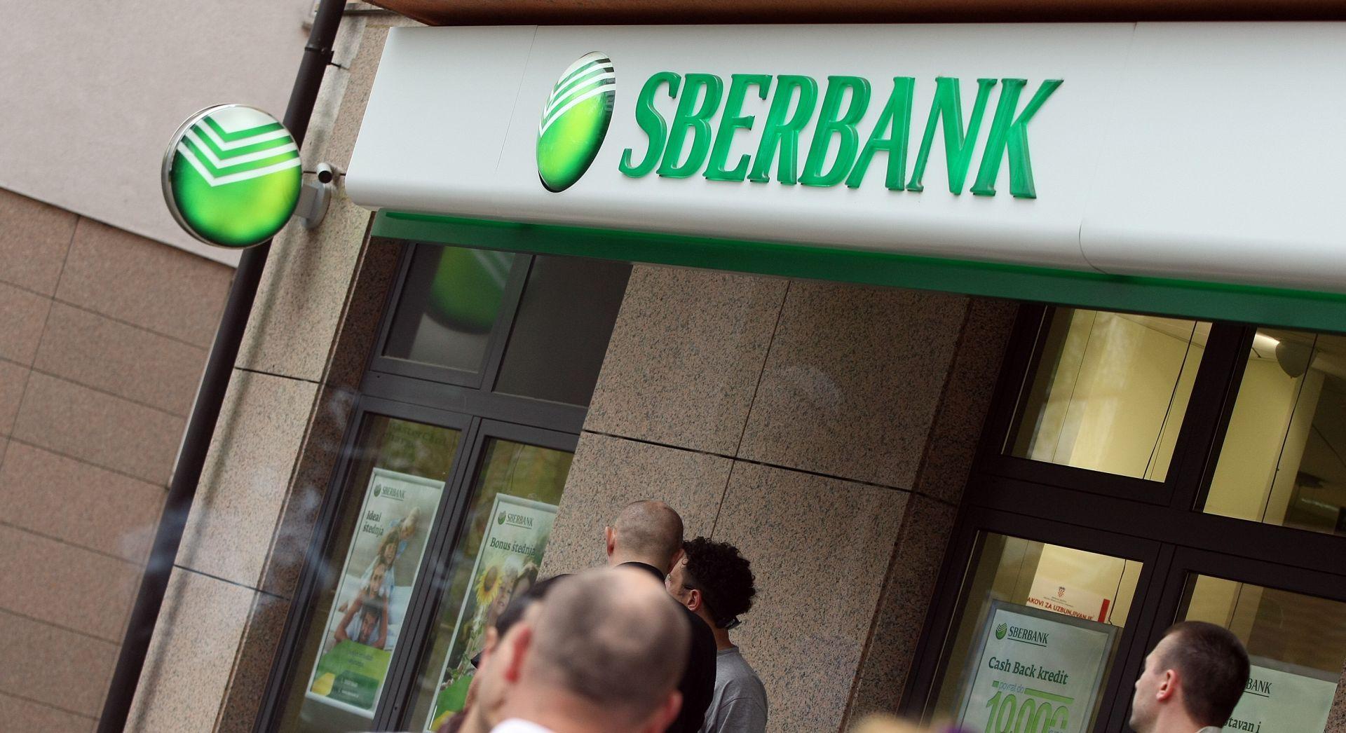 Članovi Udruge Franak blokirali rad poslovnice Sberbanke u Varšavskoj