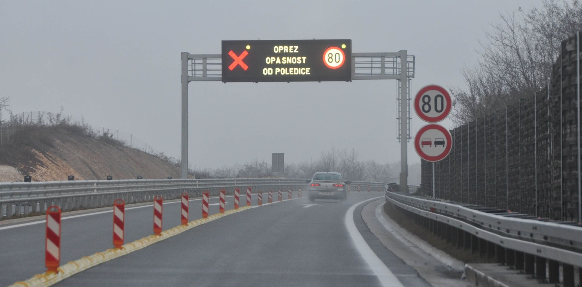 HAK Magla smanjuje vidljivost na A1 i A3, kolnici vlažni i skliski