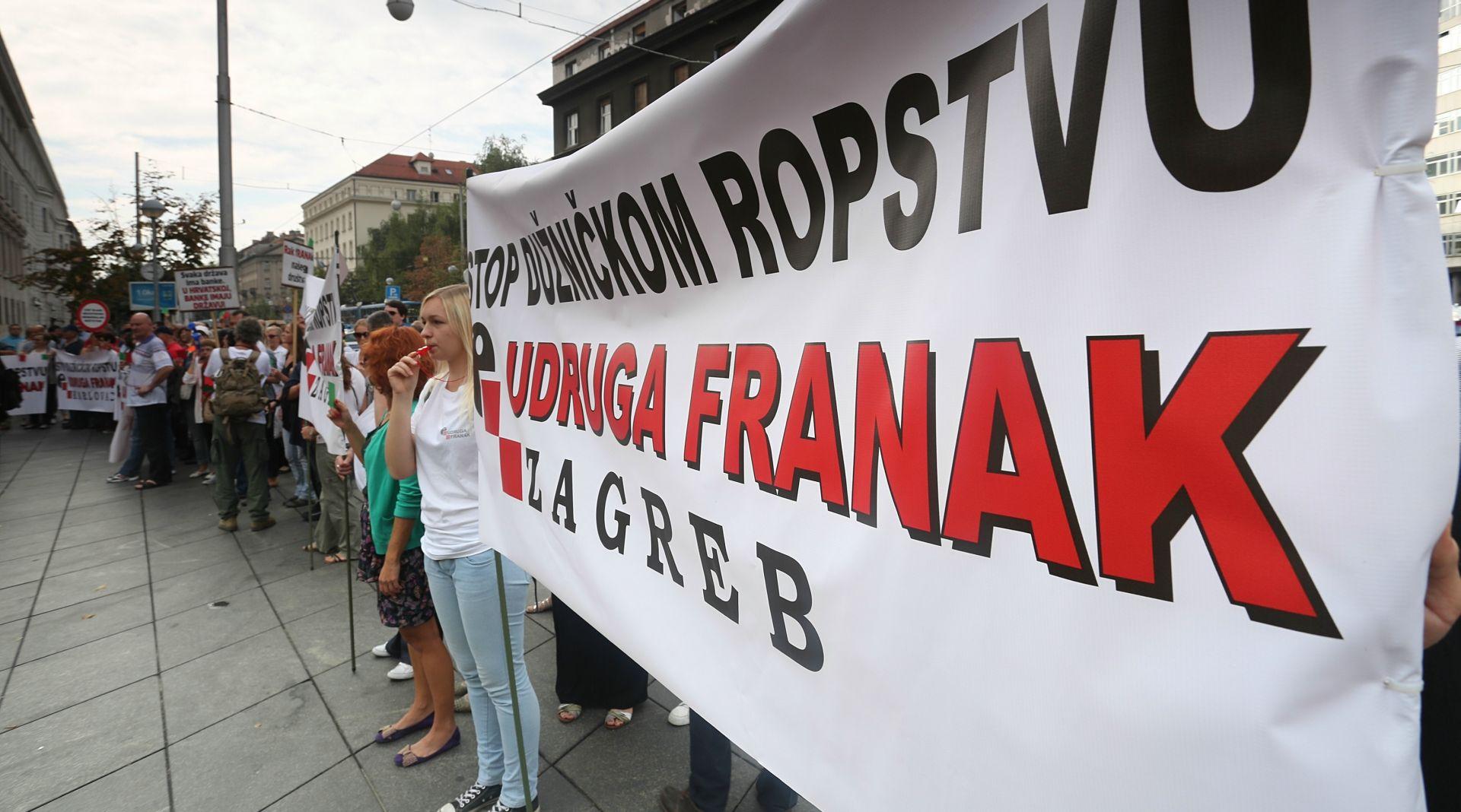 Udruga Franak najavljuje prosvjed i prijave protiv banaka