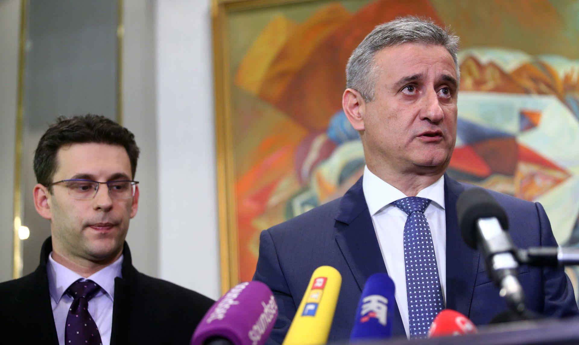 Karamarko i Petrov: Orešković je izabran na prijedlog Domoljubne koalicije