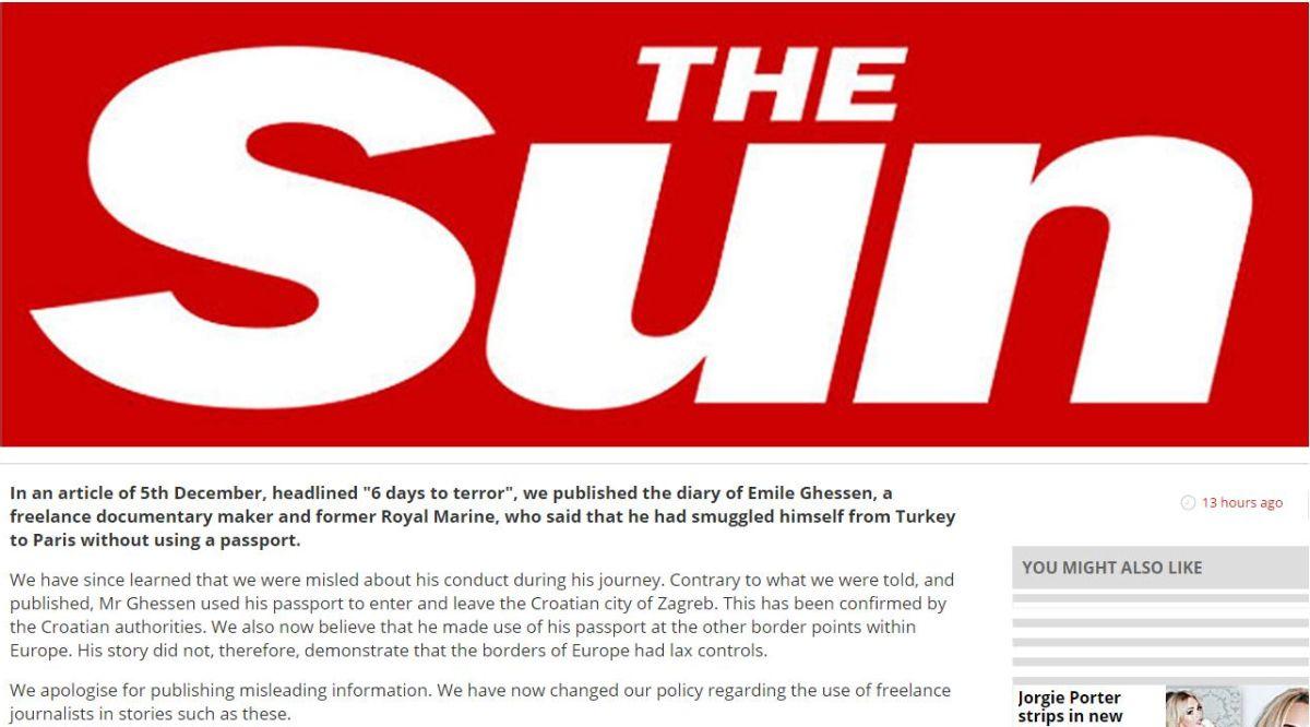 Screenshot/The Sun