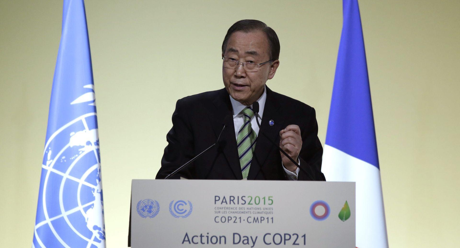 """TRAŽI SPORAZUM O KLIMI I UPOZORAVA Ban Ki-moon: """"Otkucava vrijeme do katastrofe"""""""