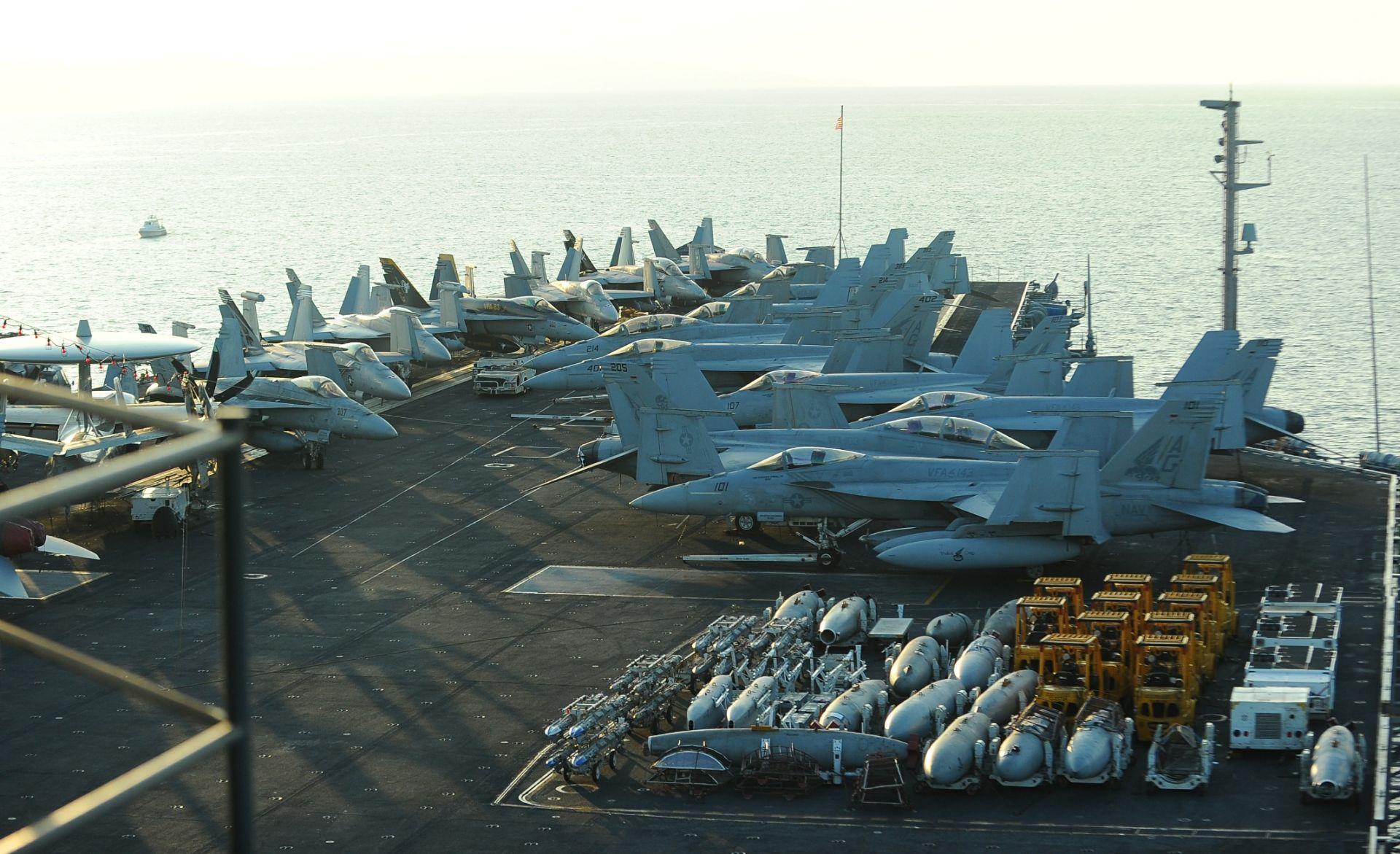 BRAČKI KANAL: Novinari posjetili američki nosač zrakoplova USS Harry Truman