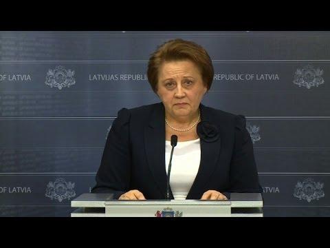 VIDEO: Latvijska premijerka Laimdota Straujuma najavila ostavku