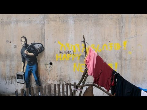 VIDEO: Banksy svoja tri murala posvetio migrantima u Calaisu