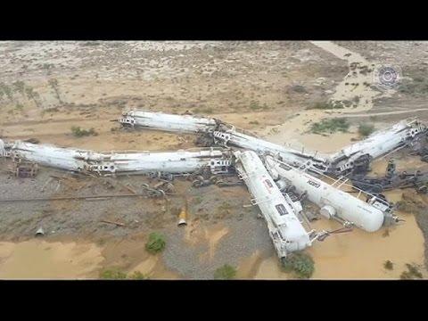 VIDEO: Prevrnuo se vlak s dvjesto tisuća litara sumporne kiselne