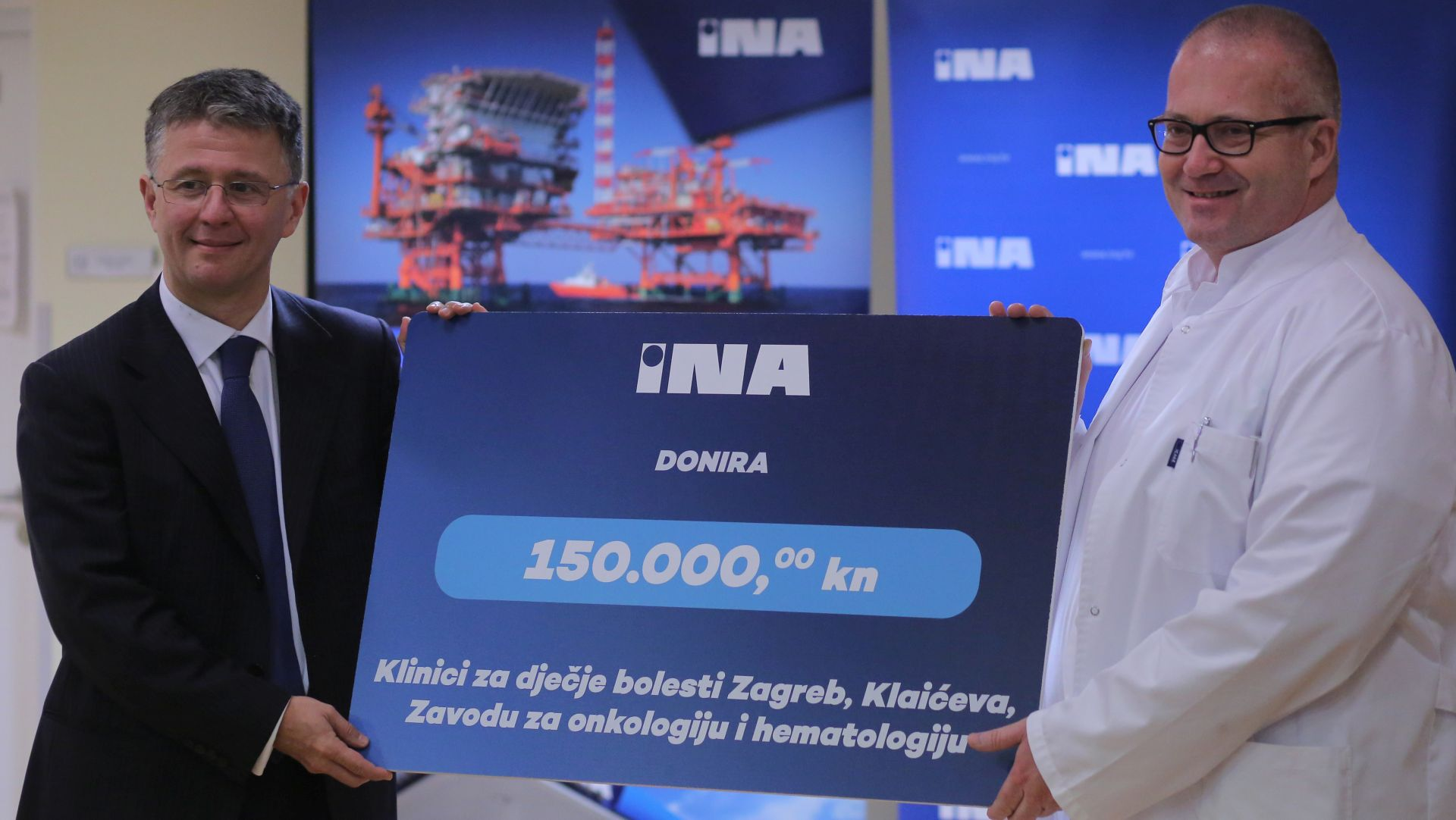 DONACIJA INE: 150.000 kuna Zavodu za onkologiju i hematologiju