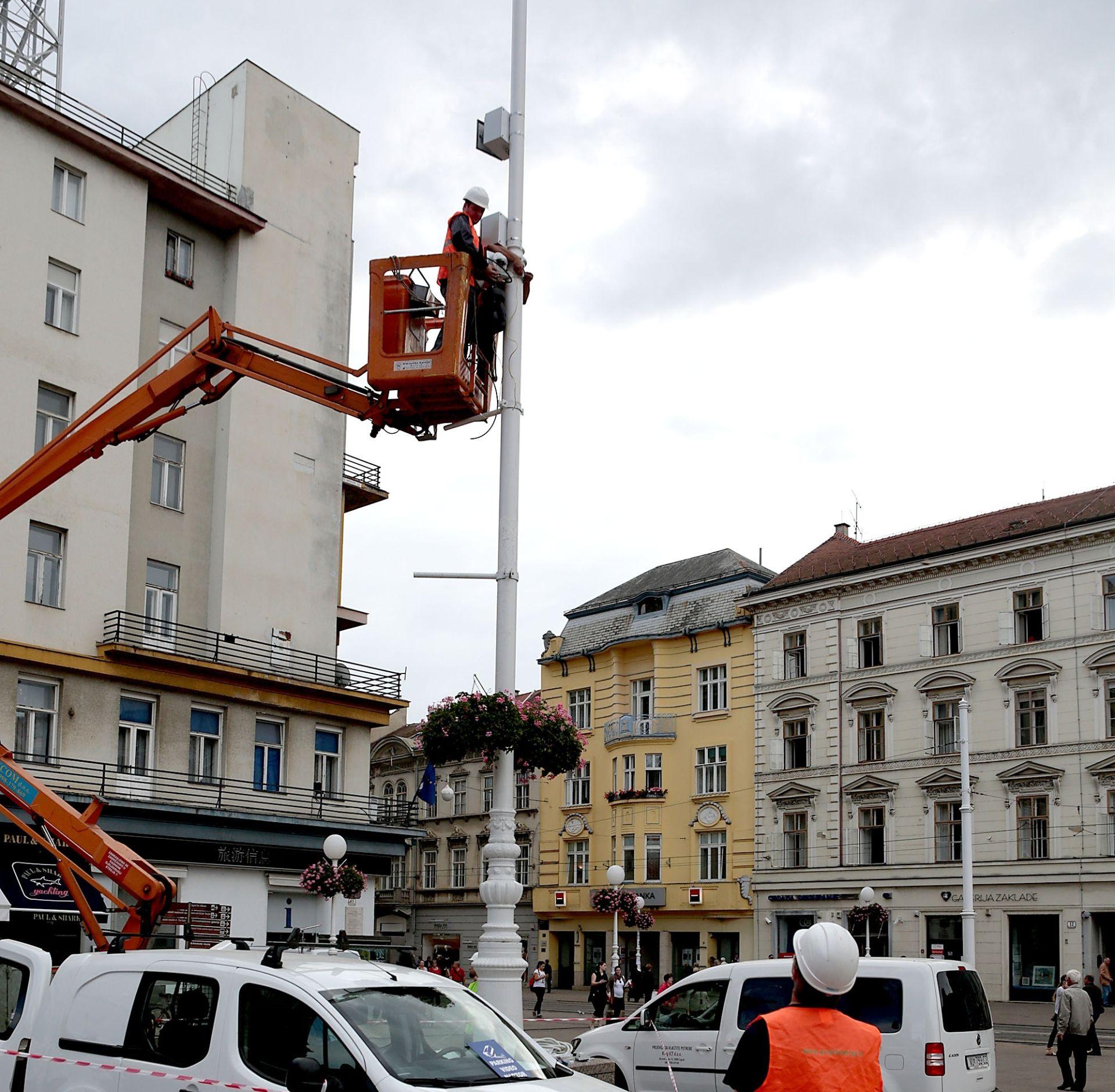 VIDEONADZOR U ZAGREBU: Počelo postavljanje kamera na nekoliko gradskih lokacija
