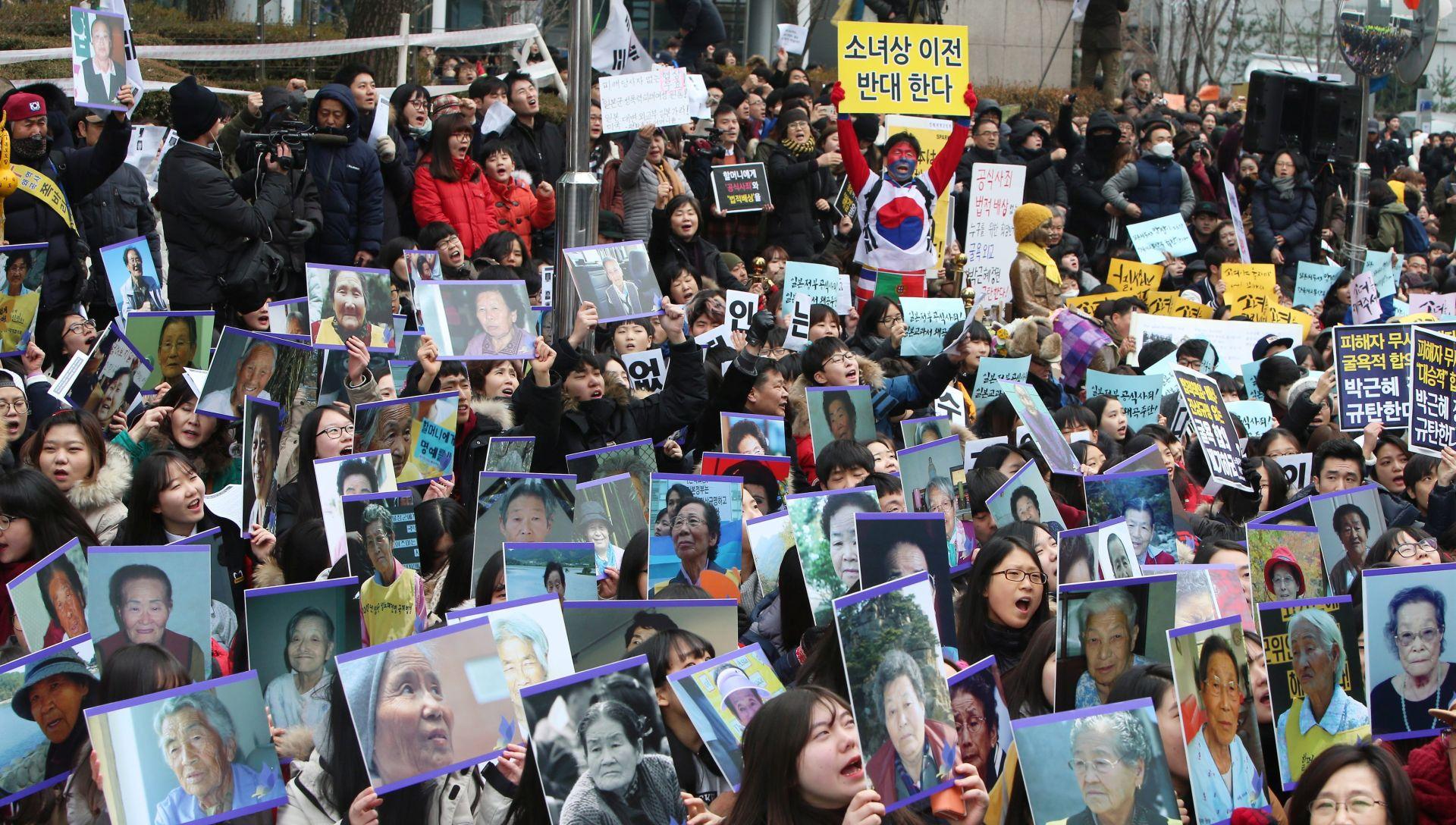 """""""ŽENA ZA UTJEHU"""": Prosvjed zbog sporazuma s Japanom"""