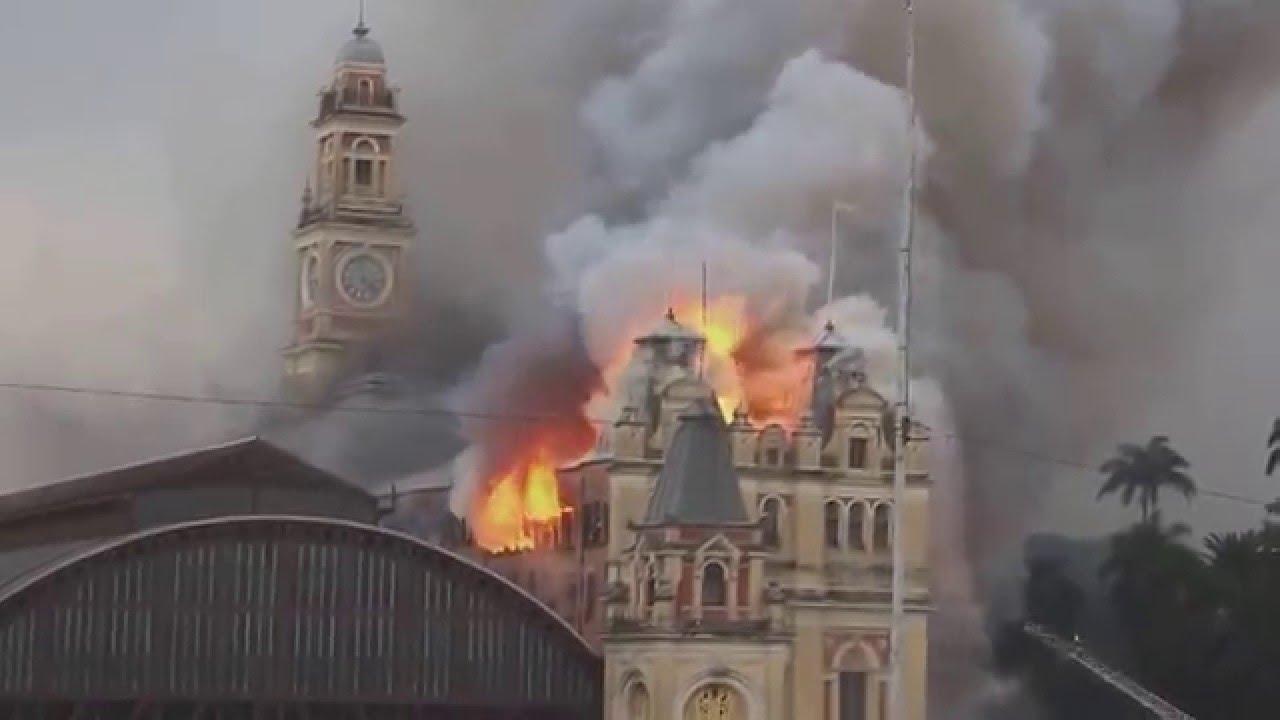 VIDEO: Ogromni požar u poznatom Muzeju portugalskog jezika