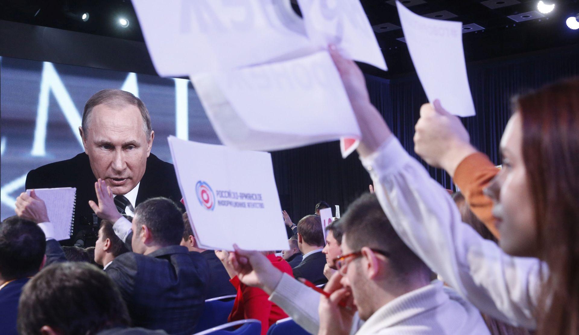 GODIŠNJA KONFERENCIJA Putin: Rusija će nastaviti sa zračnim udarima u Siriji