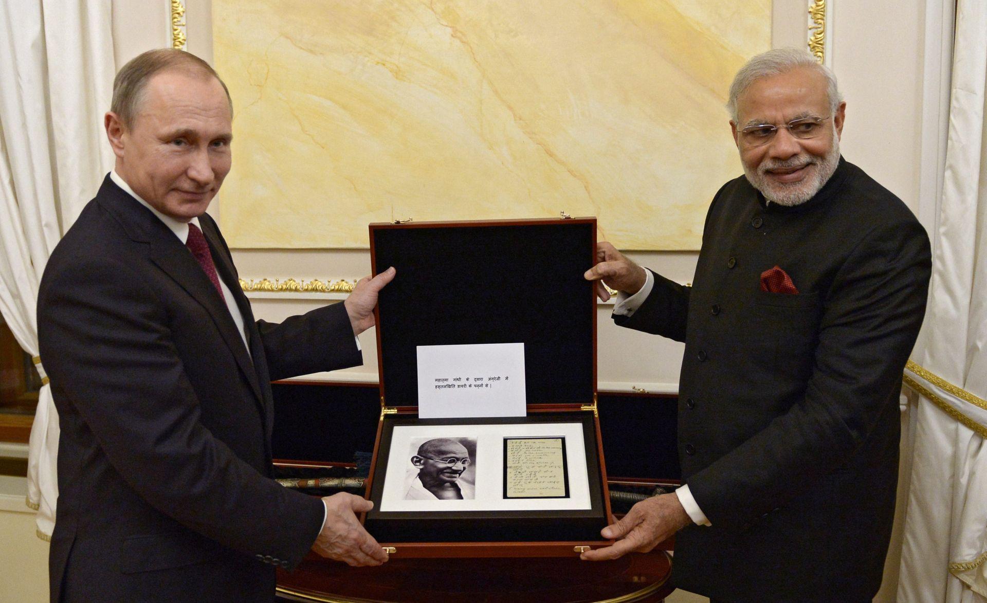 """PUTIN: Rusija i Indija razvijaju """"privilegirano strateško partnerstvo"""""""