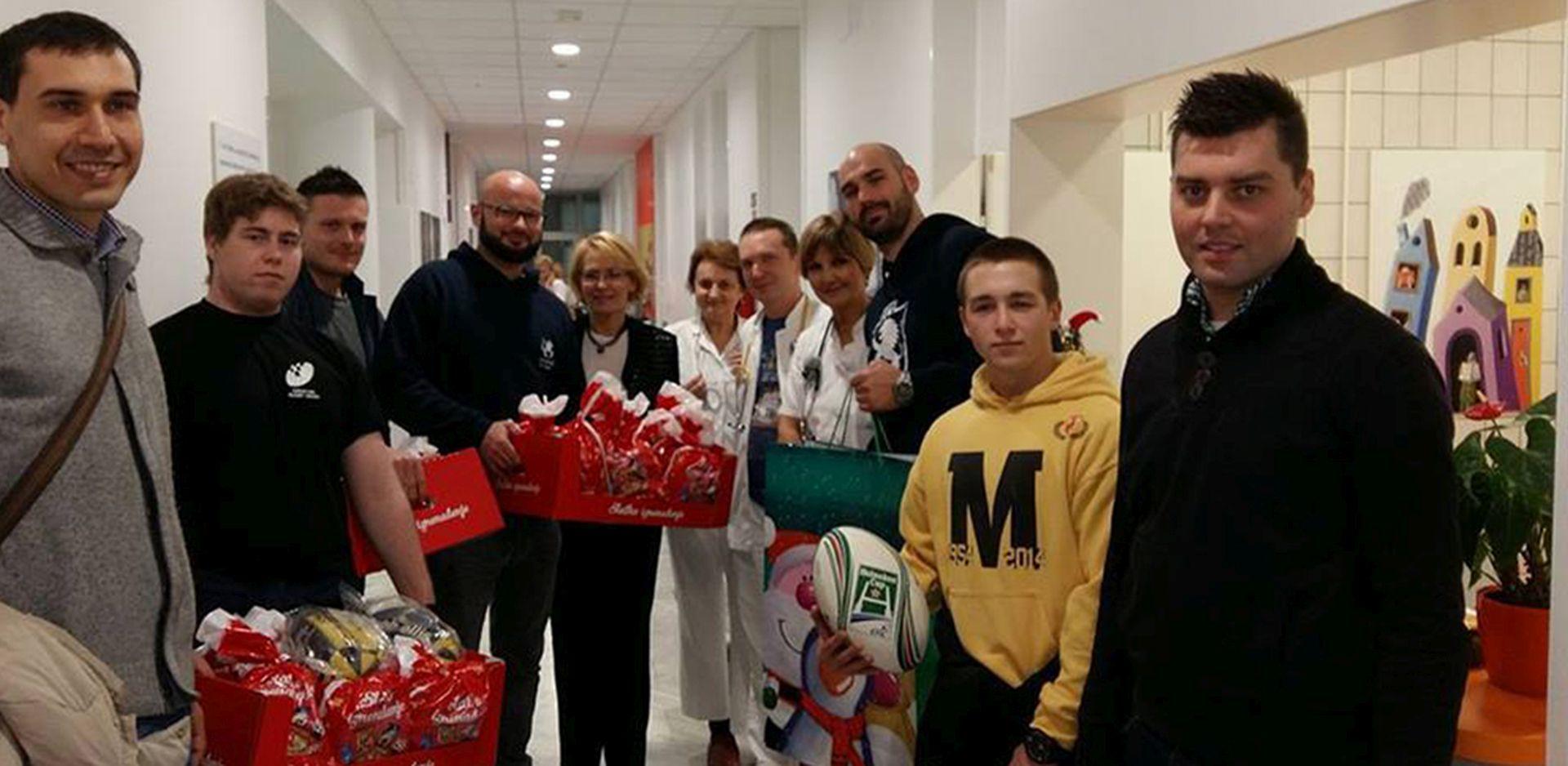 LOKOMOTIVA, MLADOST I ZAGREB: Zagrebački ragbijaši posjetili bolnicu u Klaićevoj
