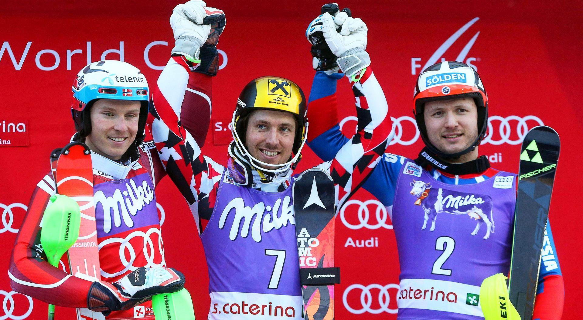 KOSTELIĆ BEZ DRUGE VOŽNJE, ZUBČIĆ I VIDOVIĆ NISU ZAVRŠILI Hirscheru slalom u Santa Caterini