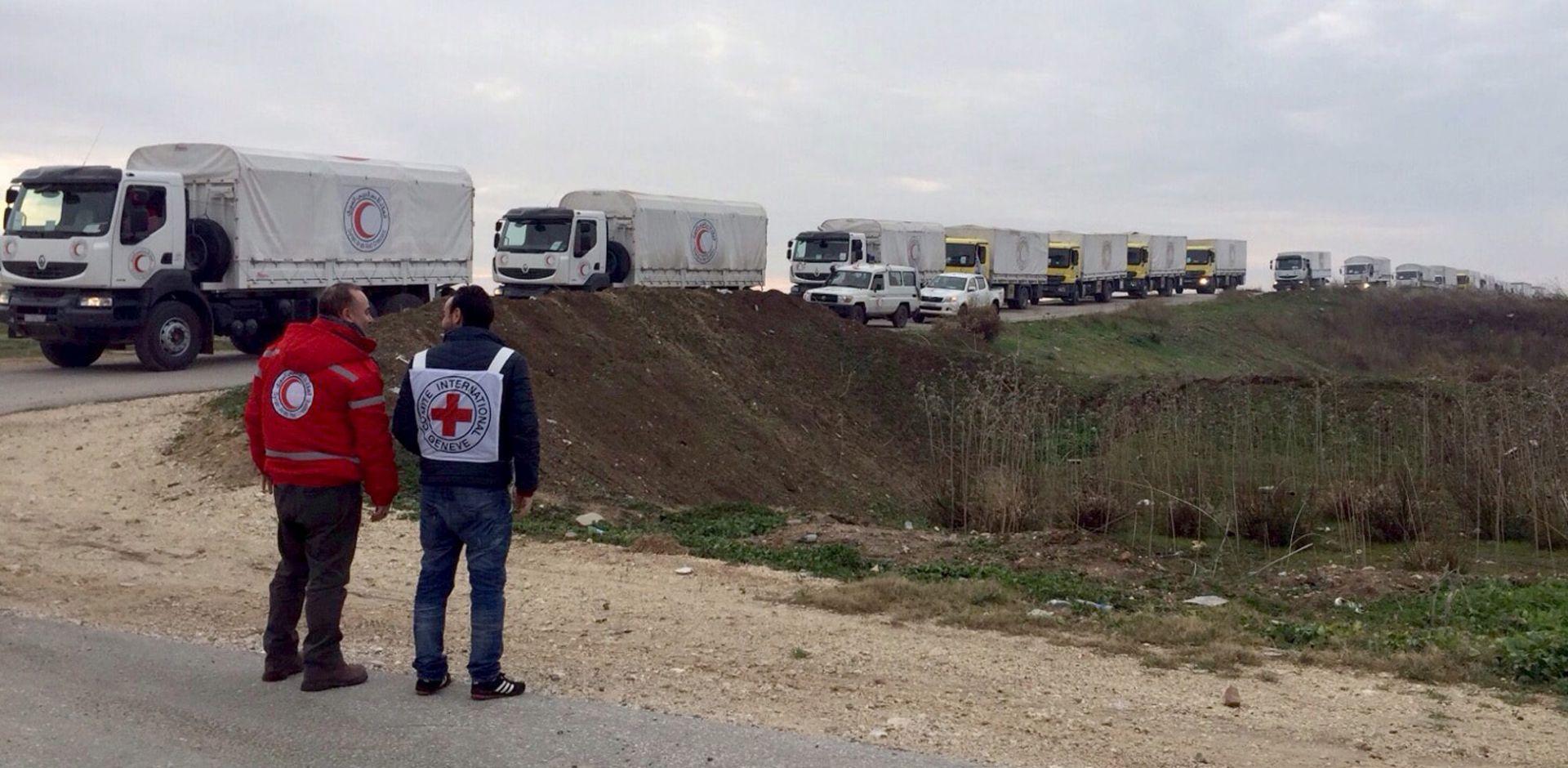 SIRIJA Humanitarna pomoć stiže u Madayu, u kojem ljudi umiru od gladi
