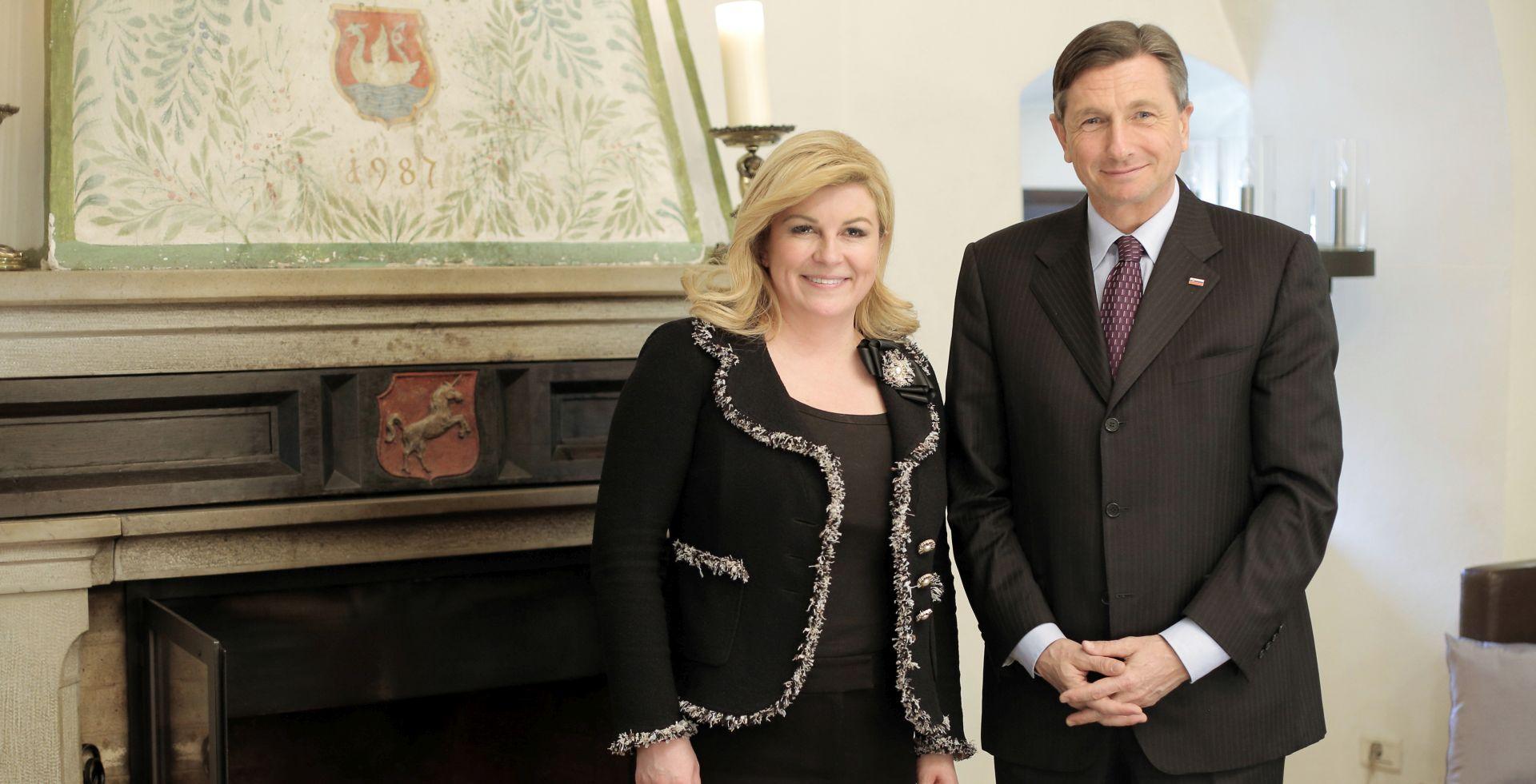 U Otočcu na Krki nenajavljeno se sastali predsjednici Hrvatske i Slovenije