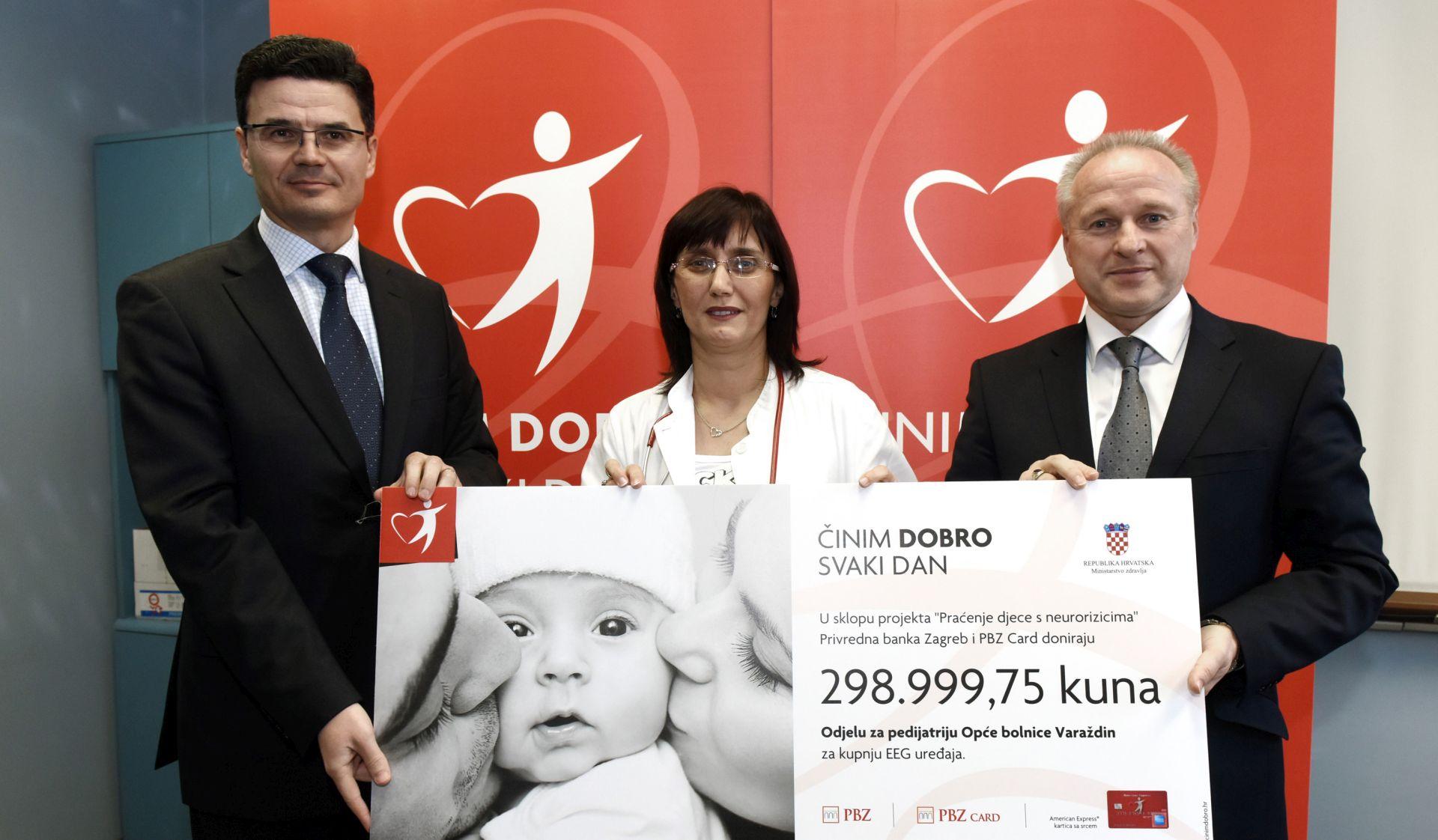 ZA KUPNJU EEG UREĐAJA: PBZ grupa donirala 299.000 kuna varaždinskoj bolnici