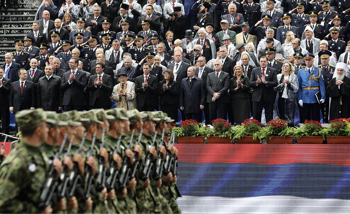 Ruski predsjednik Vladimir Putin bio je gost na velikoj paradi povodom 70. godišnjice oslobođenja Beograda, što je prikazano kao primjer dobrih odnosa Srbije i Rusije. FOTO: Marko Mrkonjic/PIXSELL