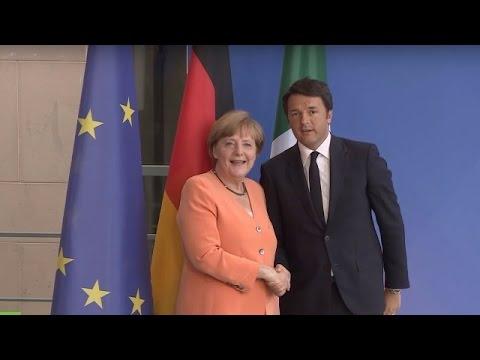 VIDEO: Medijska konferencija Angele Merkel i Mattea Renzija