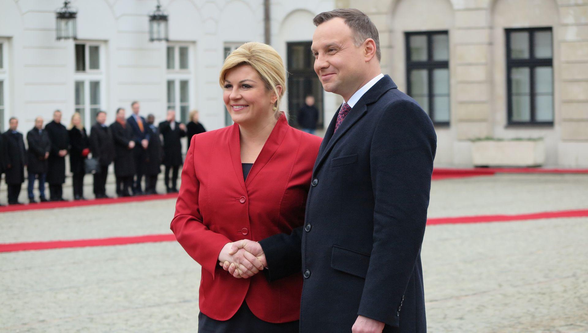 INICIJATIVA JADRAN-BALTIK-CRNO MORE: Hrvatska predsjednica počela razgovore u Varšavi