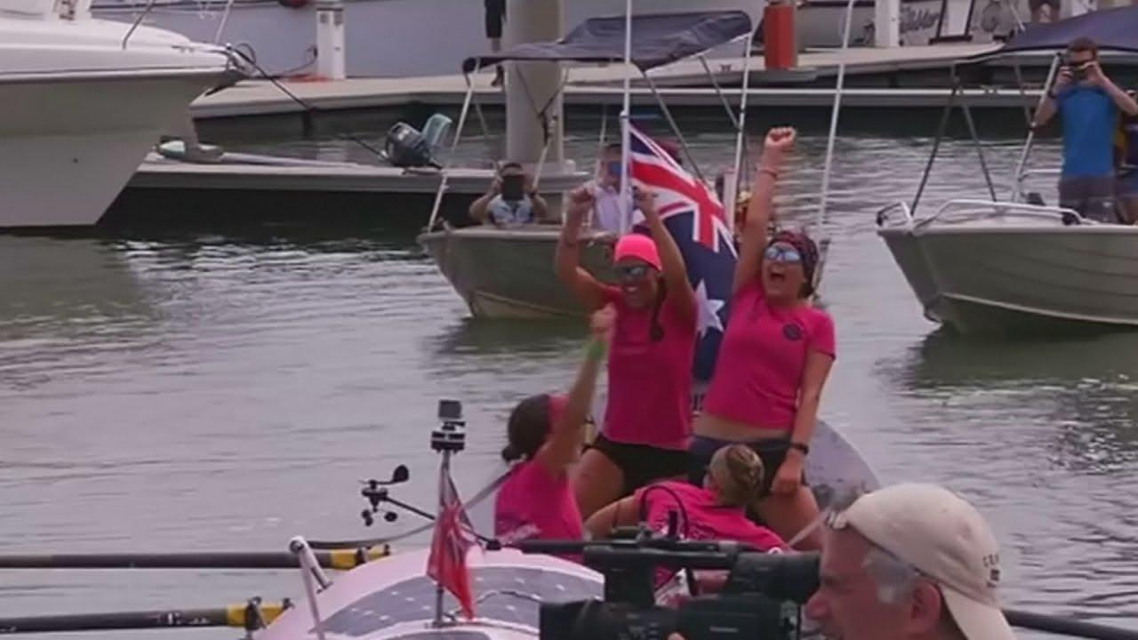 VIDEO: Četiri Britanke preveslale Pacifički ocean