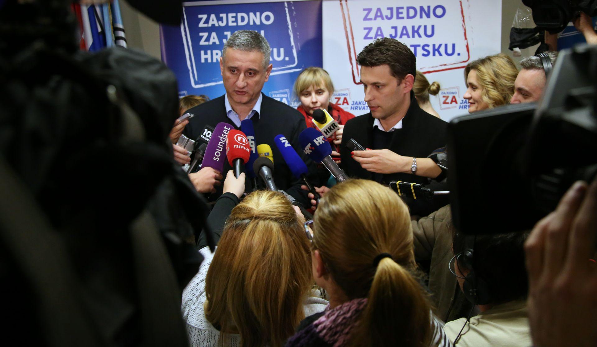 FORMIRANJE HRVATSKE VLADE: Karamarko i Petrov potpredsjednici u novoj Vladi