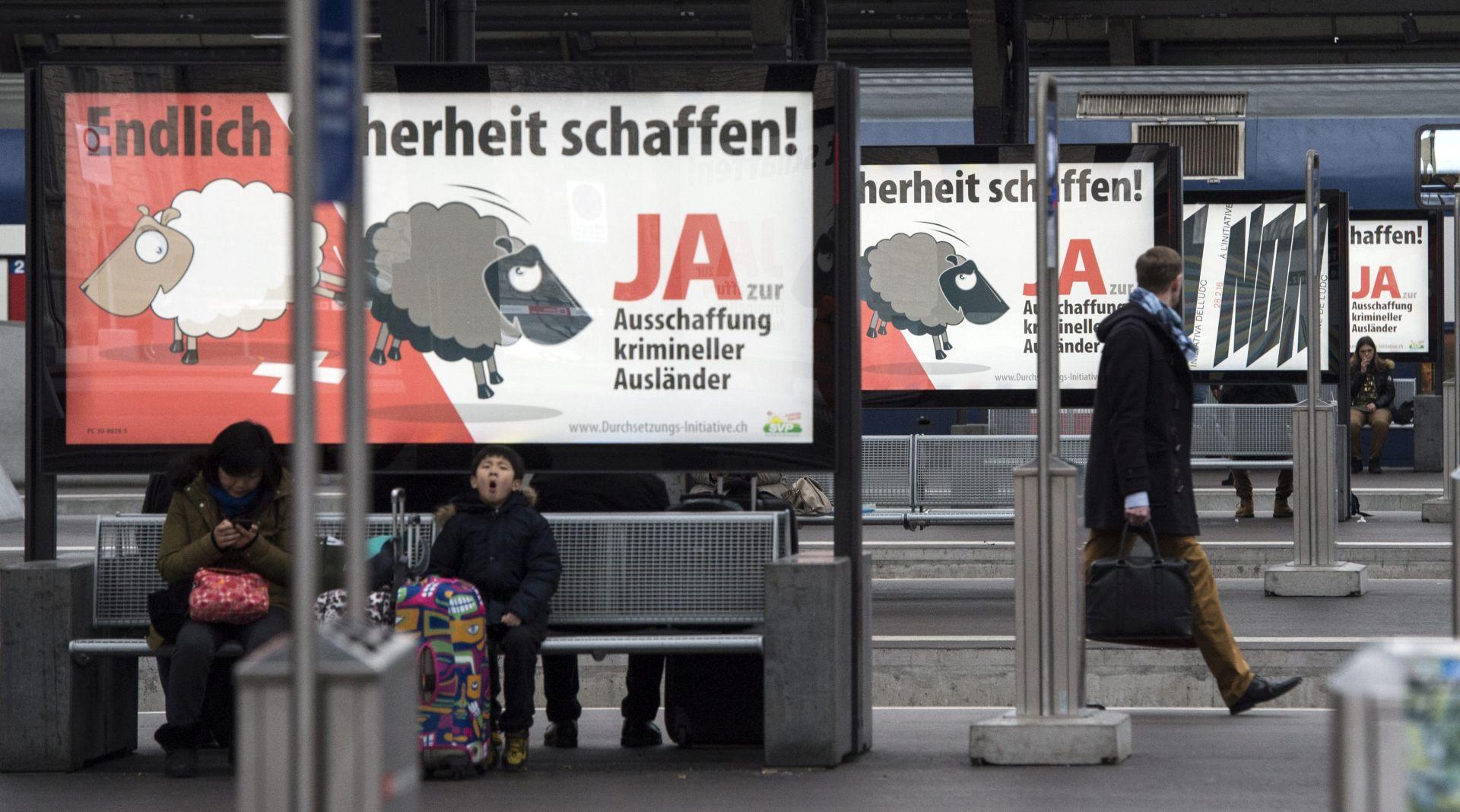 SMANJENJE RAZINE KRIMINALA? Referendum o deportaciji podijelio švicarske birače