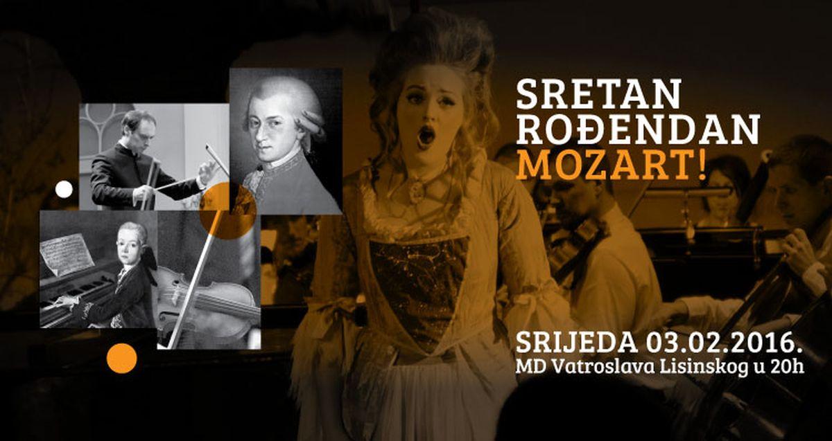 SRETAN ROĐENDAN, MOZART! Zagrebački orkestar mladih u Lisinskom