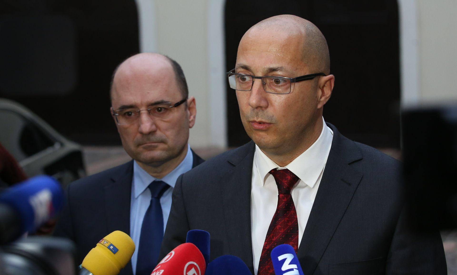 Vijeće za suradnju Domoljubne koalicije i Mosta u četvrtak o zamjenicima ministara