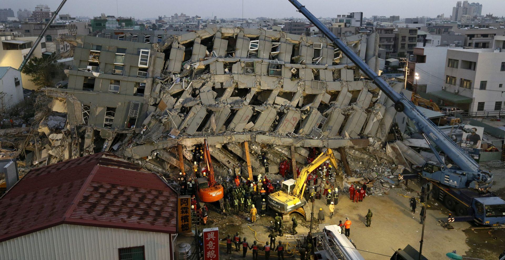 Tajvan oplakuje više od 90 žrtava potresa, zaplijenjena imovina neodgovoronih izvođača