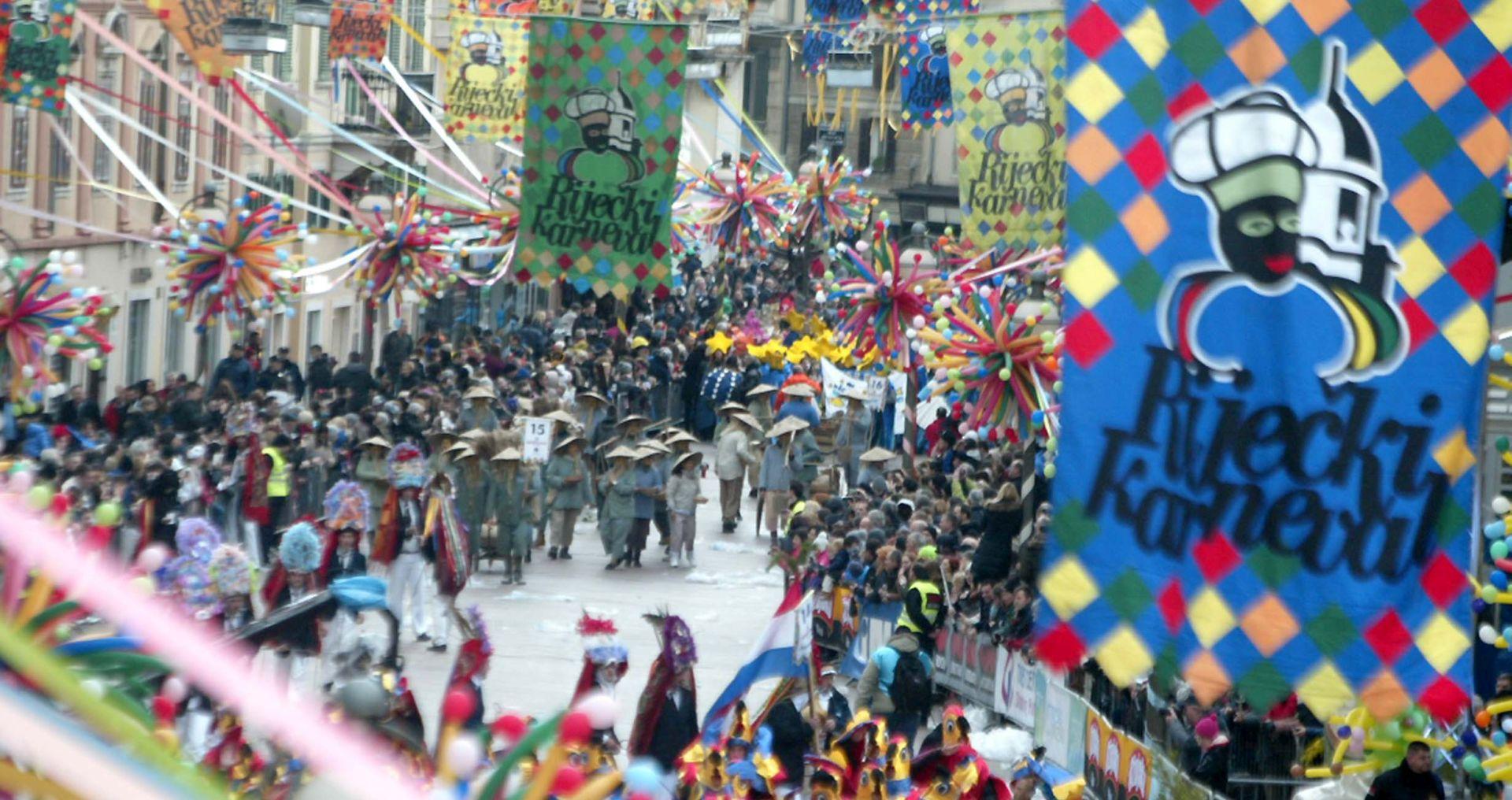 Oko 10 tisuća maškara u riječkoj 33. međunarodnoj karnevalskoj povorci