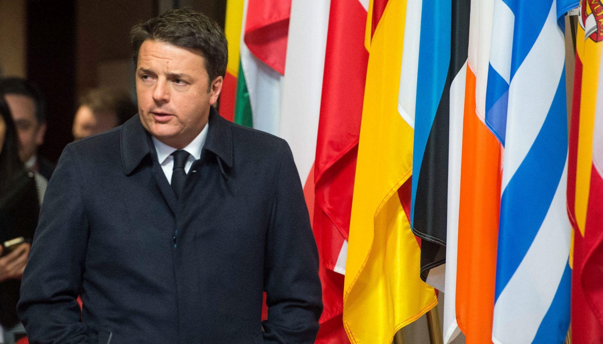 Renzi: Manje novca za članice koje nisu solidarne u izbjegličkoj krizi