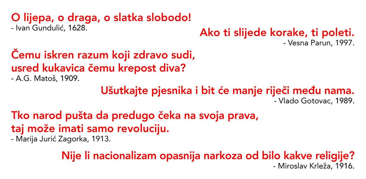 "Performans ""O lijepa, o draga, o slatka slobodo"" Brune Isakovića u subotu na Trgu kralja Tomislava"