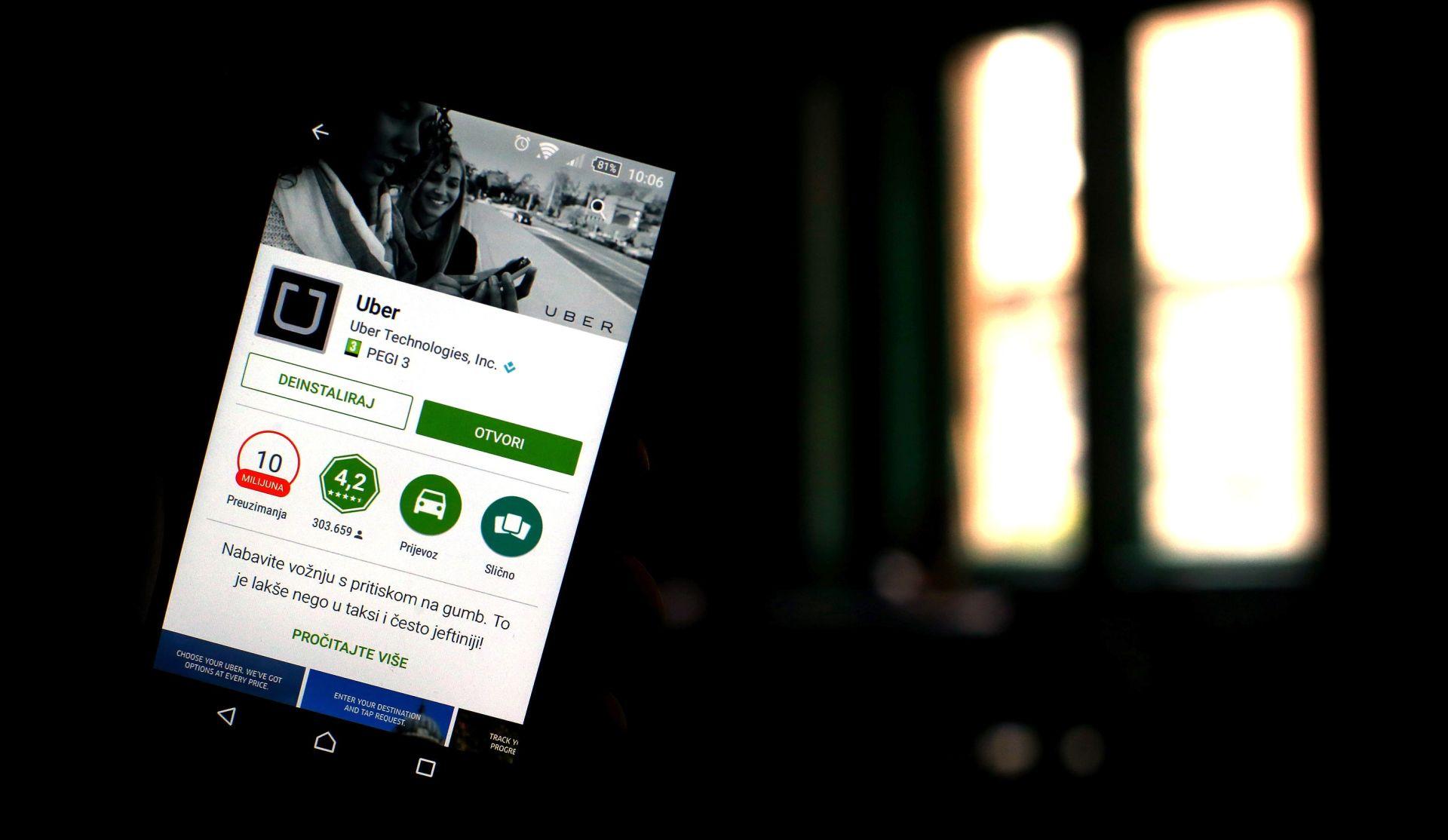 Taksi prijevoznici upozorili na nelojalnu konkurenciju Ubera