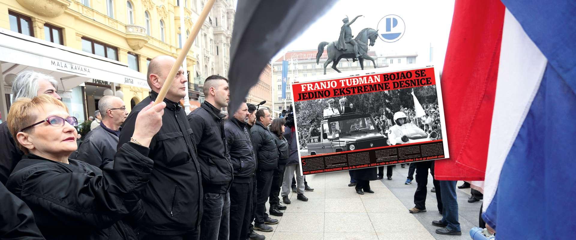 Podilaženjem ekstremnoj desnici HDZ negira Tuđmanovu politiku i tolerira fašizaciju hrvatske