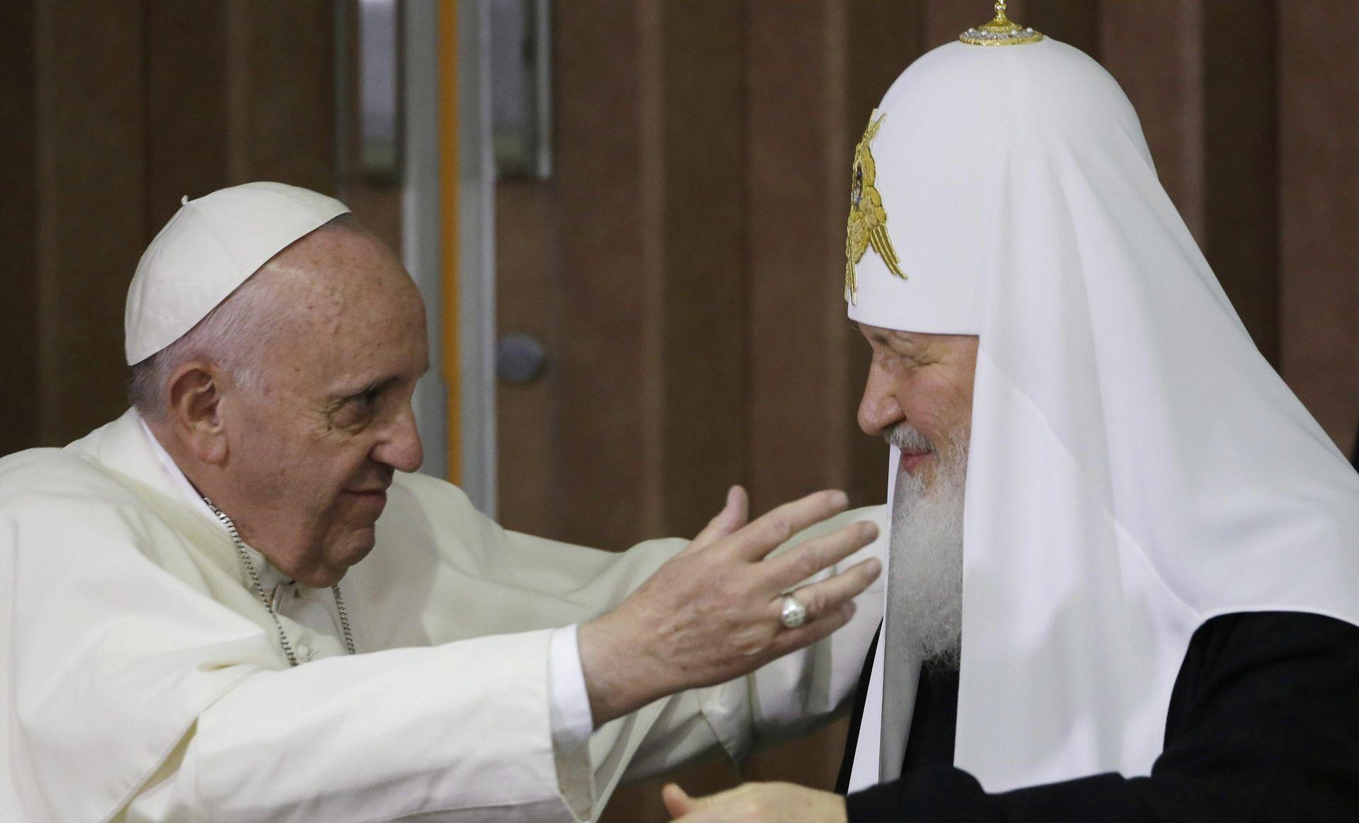 Papa Franjo i patrijarh Kiril: Niti jedan zločin ne može biti počinjen u ime Boga