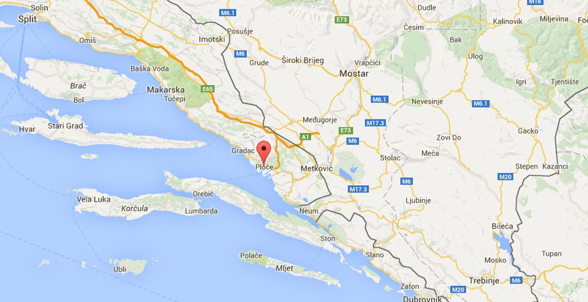 JAK POTRES KOD PLOČA: Osjetio se na području od Pelješca do Makarske i Vrgorca