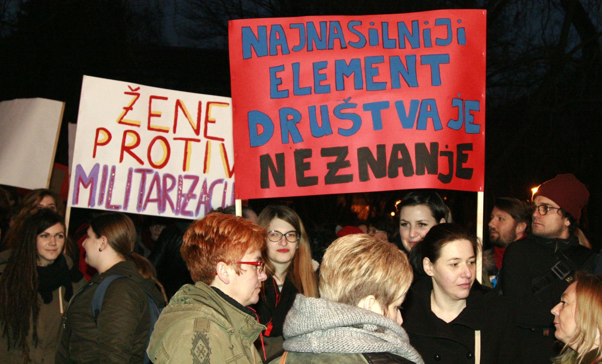 """""""Noćni marš – 8. mart"""" ulicama Zagreba"""