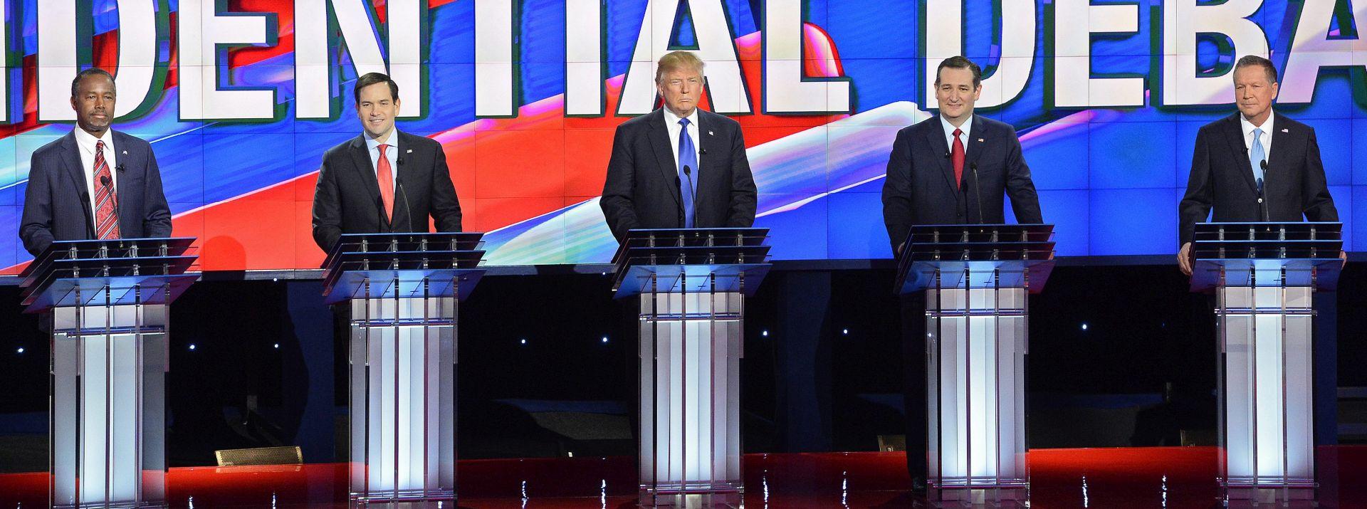 """Veliki Donald"" na debati pod paljbom ""malog Marca"" i ostalih suparnika"