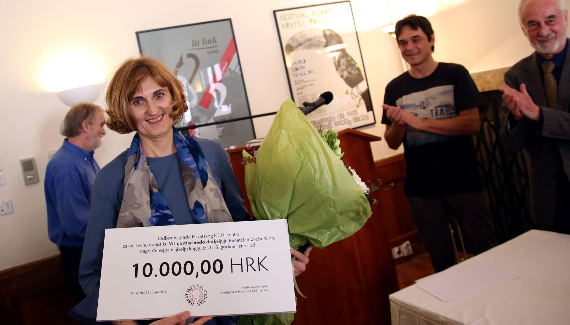 Književnu nagradu Višnja Machiedo dobila Renata Jambrešić Kirin