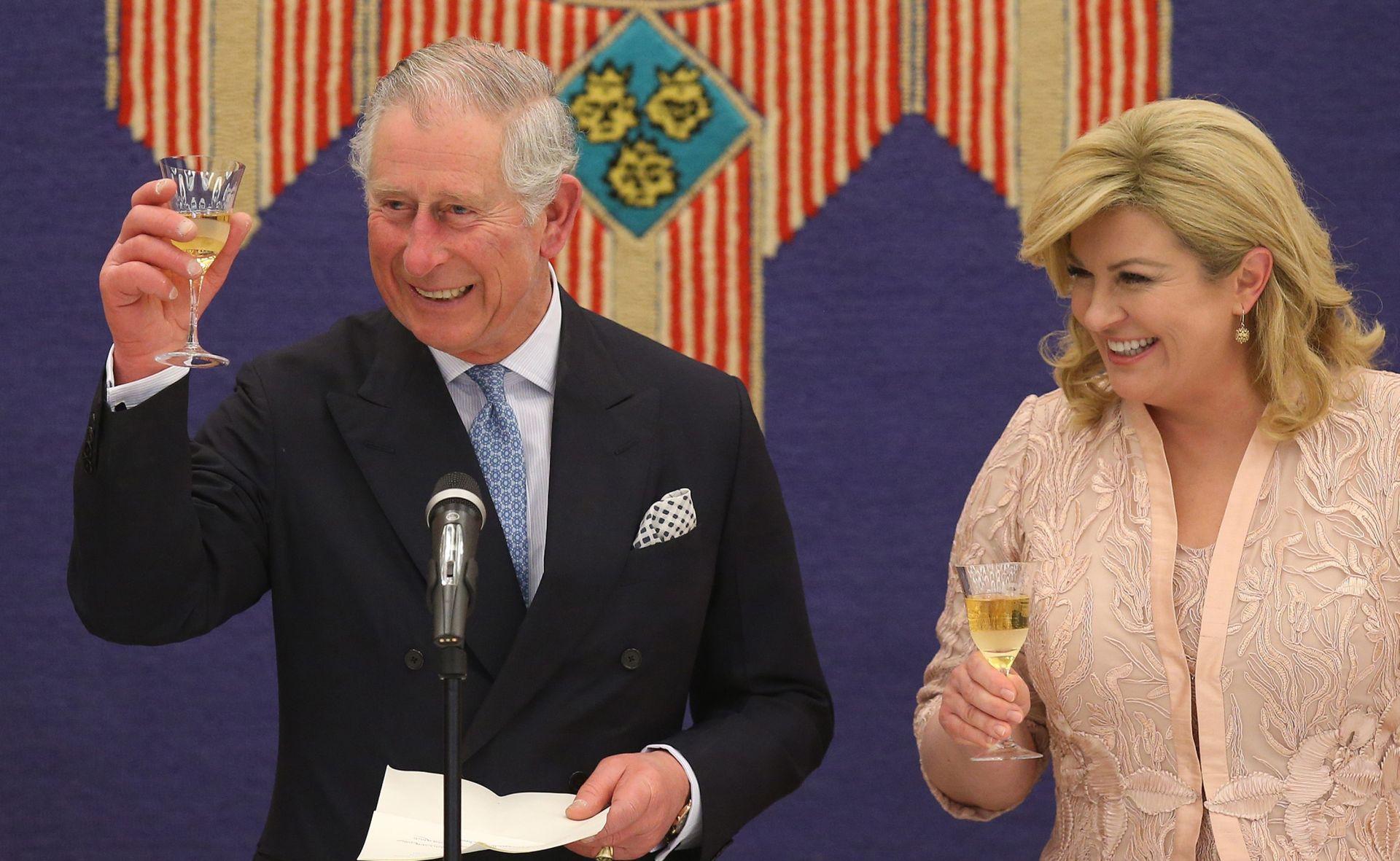 FOTO: SVEČANA VEČERA NA PANTOVČAKU Princ Charles čestitao Hrvatskoj na iznimnom napretku