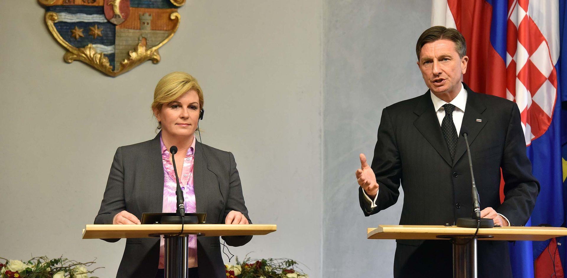 Grabar-Kitarović i Pahor različito o graničnoj arbitraži